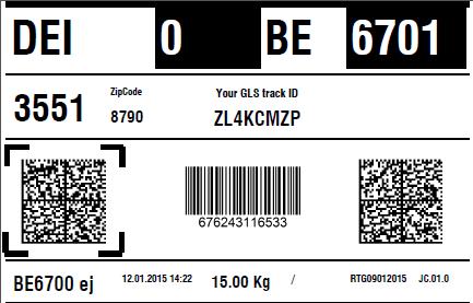 gls label